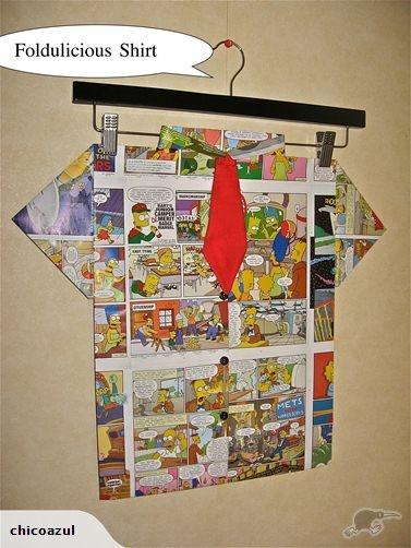 Folded Paper Art -Foldulicious Shirt-The Simpsons | Trade Me