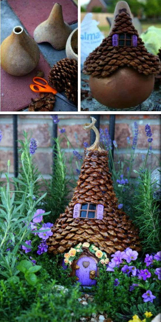 Fairy Garden Container Ideas 9 enchanting fairy gardens to build with your kids Gourd Fairy Houses Garden Ideas Video Tutorial