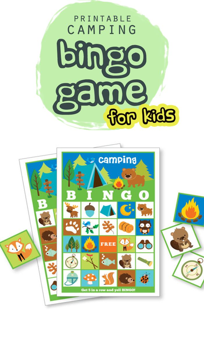 This Adorable Camping Bingo Game With 24 Different Cards