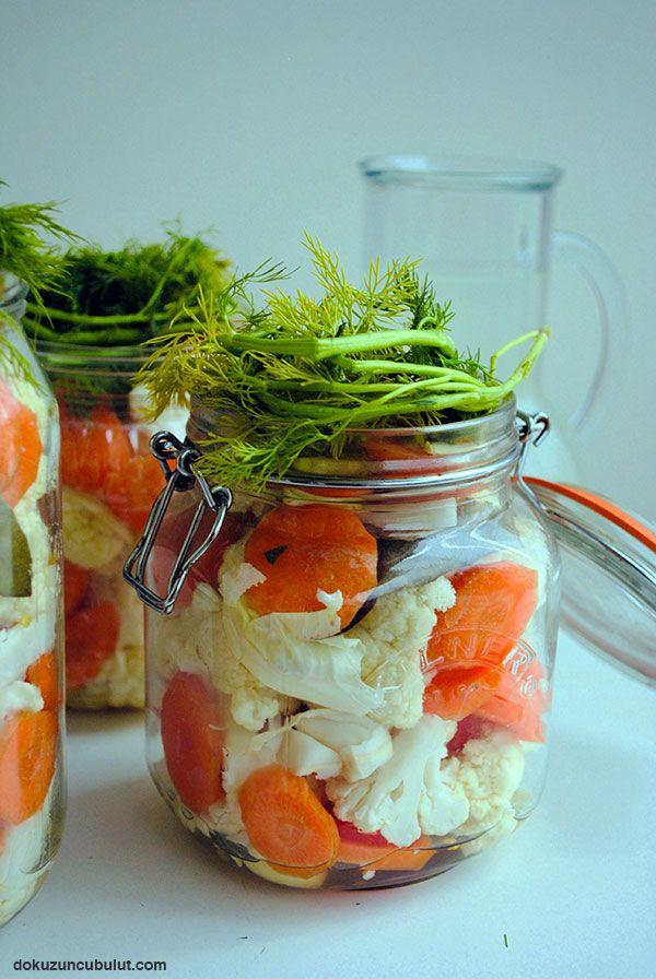 Probiyotik karnabahar ve brokoli turşusu