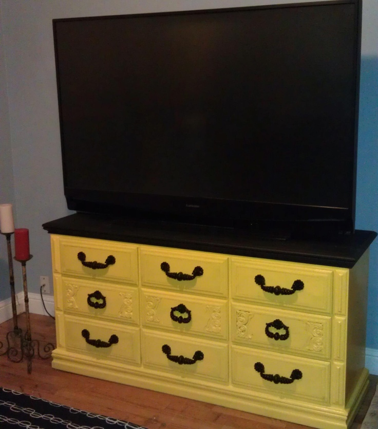 DIY dresser, that I just refinished for my tv stand! :) It's FINALLY