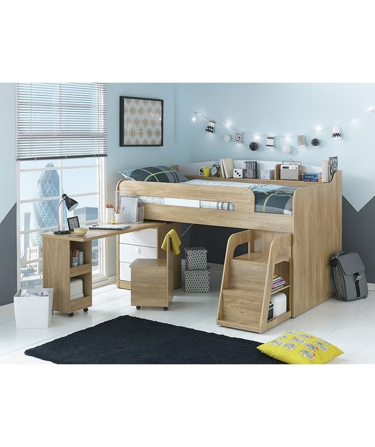 Buy Ultimate Storage Midsleeper with Ashley Mattress at Argos.co.uk - Your Online Shop for Children's beds, Children's beds.
