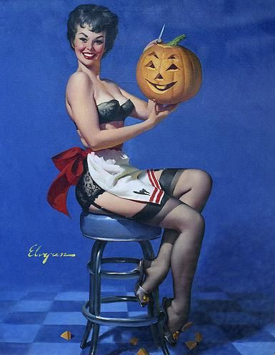 Photo of Happy Halloween for fans of Pin Up Girls. happy halloween pin up girl