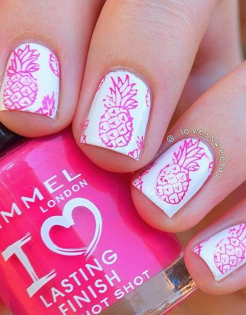 Die besten 25 pineapple nail design ideen auf pinterest 16 interesting food nail designs to try 4 pretty pineapple nail design prinsesfo Image collections