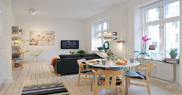 Interior Decoration Small Apartment with Paint Walls White