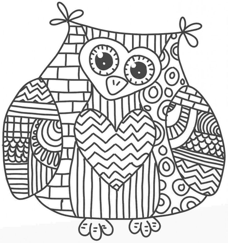 62 best adults love coloring too! images on pinterest | coloring ... - Animal Mandala Coloring Pages Owl