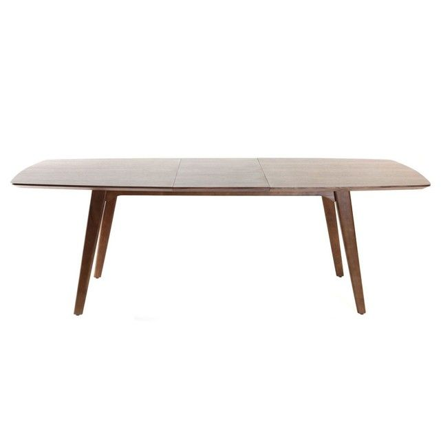 230 Table Design L180 Fifties Extensible Noyer À Manger Taille PkwO8n0X