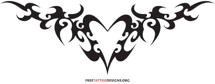 Tribal Heart Tattoos | 55 Heart Tattoos | Love And Sacred Heart Tattoo Designs