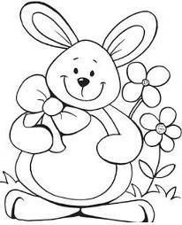 Rabbit To Color Coloring Pages Pinterest Easter Colouring