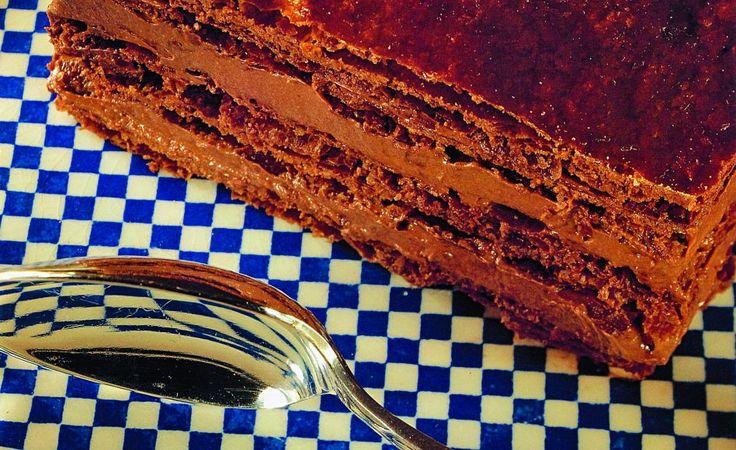 Millefeuille au chocolat par Joël Robuchon
