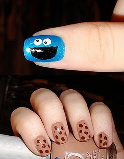For my @Marissa C.  Cookie Monster Nails