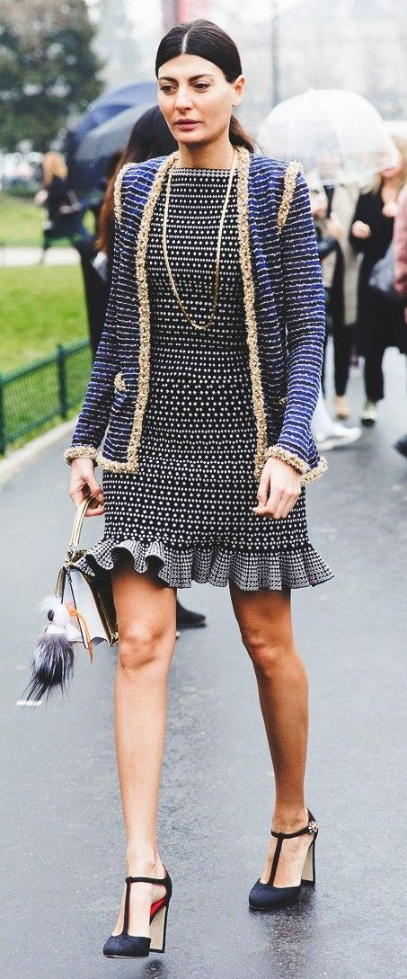 Paris Fashion Week Fall/Winter 2015 Street Style Chanel Giovanna Battaglia