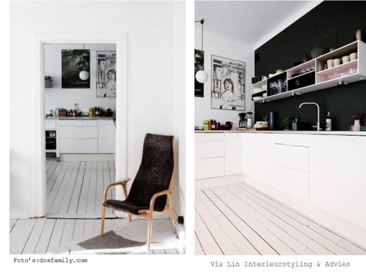 zwart wit scandinavisch interieur / black & white scandinavian interior
