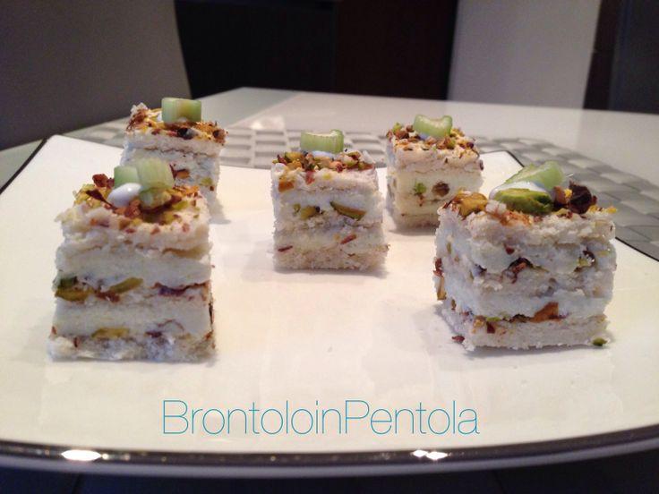 Dacquoise montersino pistacchi gorgonzola brontoloinpentola.wordpress.com
