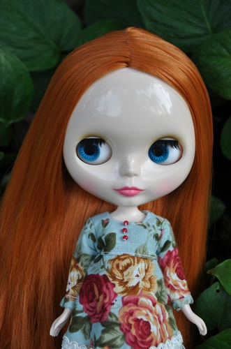Nude Factory Blythe doll - Ginger ( Orange Brown ) hair