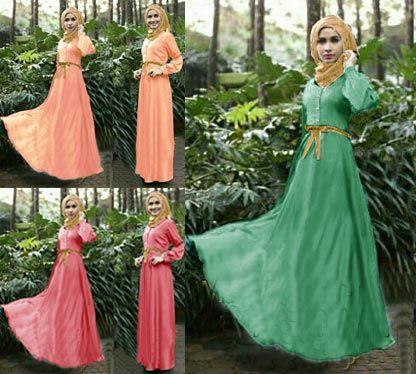 Baju dress muslim terbaru maxi rosa Kl03