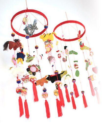 Amazon.co.jp: 京都のちりめんつるし飾り『七福神』 つるし雛 誕生祝いや雛祭り七五三の贈り物に〔zu〕: ベビー&マタニティ