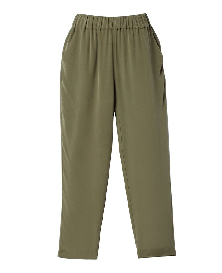 Silk Ankle Pants - Chinese Silk - Collection - WOMEN - GRANA: Wardrobe essentials made from the world's best fabrics