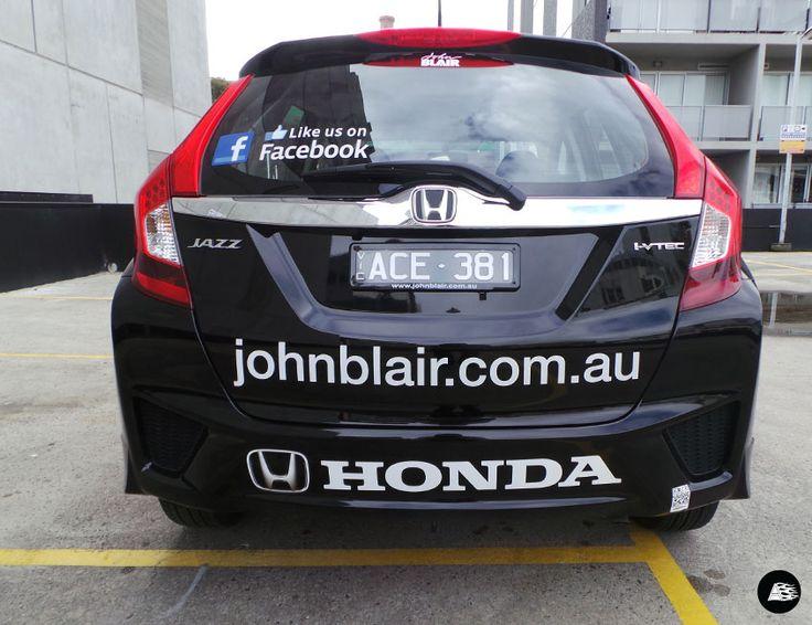 John Blair Honda, vehicle decals #honda #reflective #whitelogo #decals