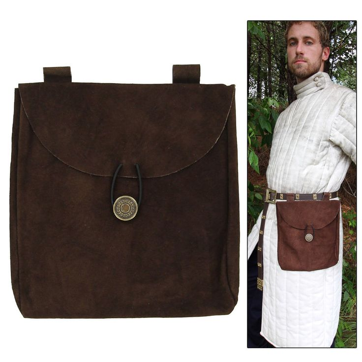 Knights Crusader Medieval Renaissance Leather Brown Suede Pouch Large   Clothing, Shoes & Accessories, Costumes, Reenactment, Theater, Reenactment & Theater   eBay!