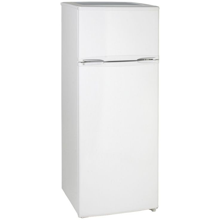 Avanti Two Door Apartment Size Refrigerator White Color