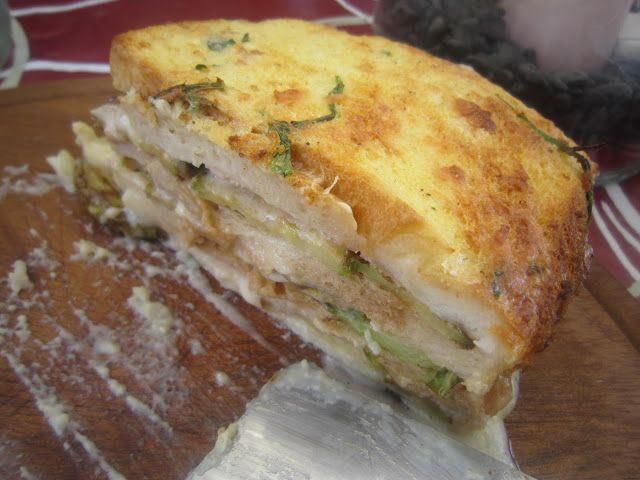 Lasagne di pancarrè, con zucchine e formaggio