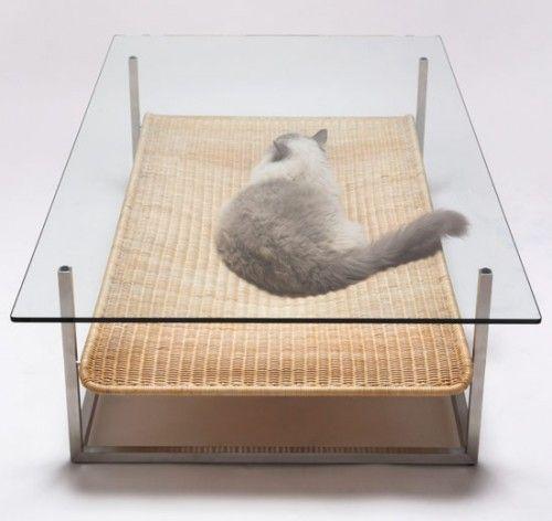 Hammock coffee table, created by Japanese designer Koichi Futatsumata for E & Y