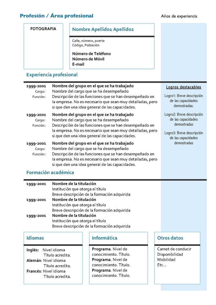 Best 25+ Curriculum vitae moderno ideas on Pinterest Plantilla - informatica administration sample resume