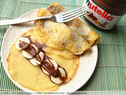 Nutella and banana crepes...the best breakfast<3 #breakfast #uncommongoods #contest: Breakfast Breakfast, Recipe, Food, Bananas, Nutella Crepes, Banana Nutella, Dessert