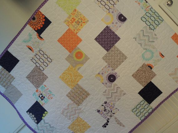 Falling blocks quilt pattern tutorial easy to make by beffie48 4 99