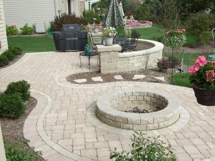 building fences | Backyard Fire Pit Ideas Backyard Patio Designs With Fire Pit Charming ...