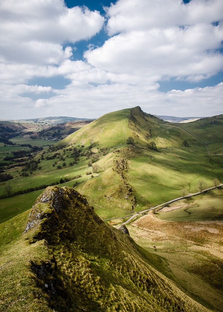 Chrome Hill, Peak District, England. A bit of a climb up here though, and quite unnerving in places... very steep with a path that is basically not too far from being a set of footprints. If you decide to go, just enter Earl Sterndale into the SatNav and follow the path from near the pub. #RePin by AT Social Media Marketing - Pinterest Marketing Specialists ATSocialMedia.co.uk