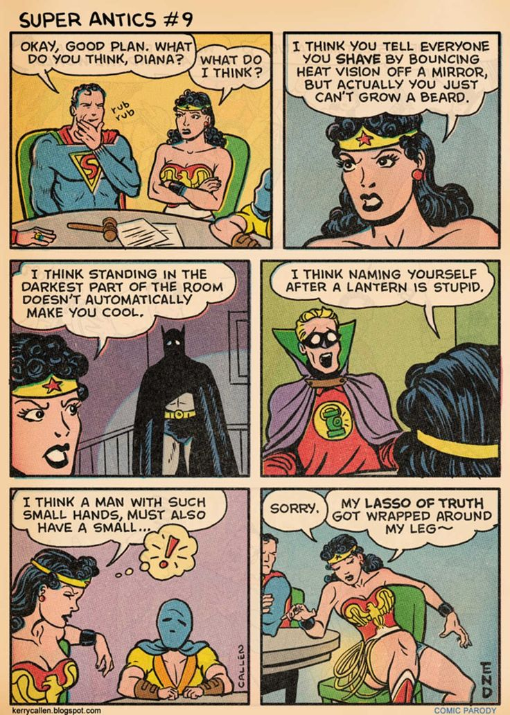 When Superman Is Attempting To Be Humorous (16 Twisted Comics)