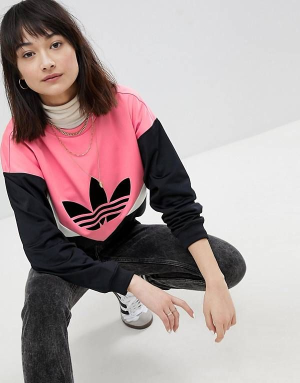 05060575 adidas Originals Colorado Panelled Sweatshirt In Black And Pink | Fashion  in 2019 | Adidas, Sweatshirts, Adidas originals