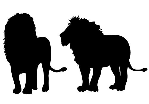 The King of Wild Lion Silhouette Vector Free Download