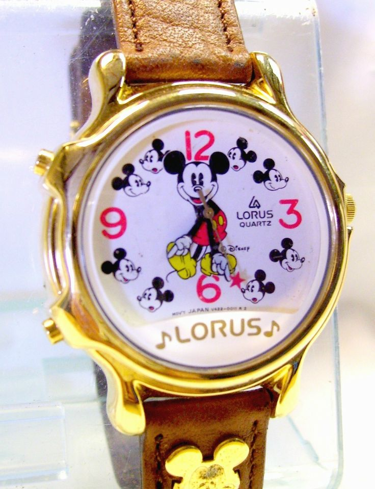 Mickey Mouse Watch  Musical Lorus/ Seiko ,2 tunes  Vintage Disney