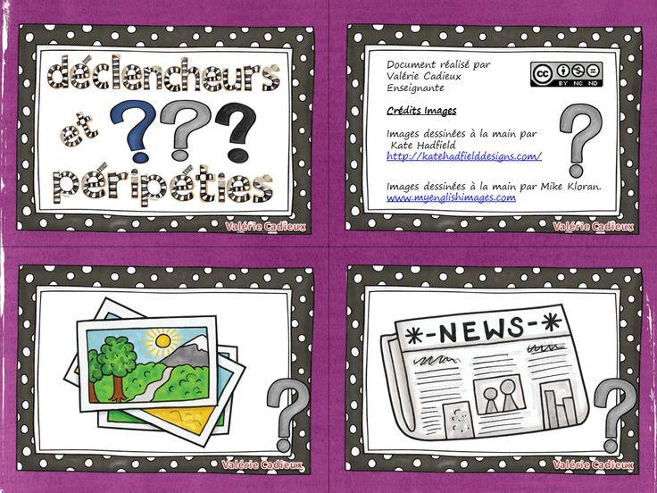 La classe de Madame Valérie: Atelier d'écriture DÉCLENCHEUR ET PÉRIPÉTIES