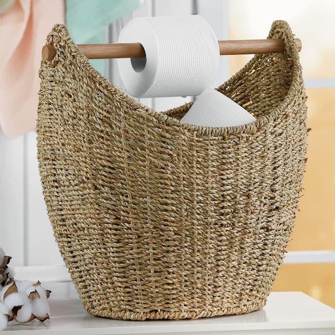 Woven Toilet Paper Basket Paper Basket Storage Baskets Basket