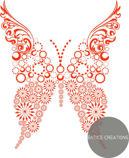 Orange Butterfly! Please visit: www.enticecreations.wordpress.com or follow @enticecreations on Instagram