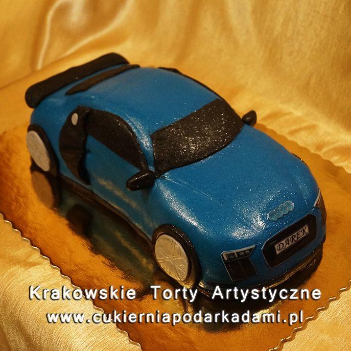 125. Przestrzenny tort niebieski Audi R8. Blue Audi R8 2d cake.