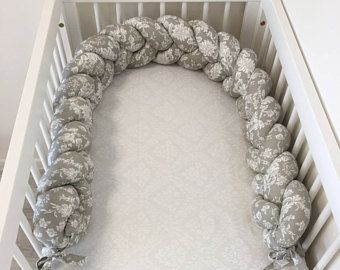 Braided Crib Bumper Crib Bumper Nursery Decor Baby Bedding