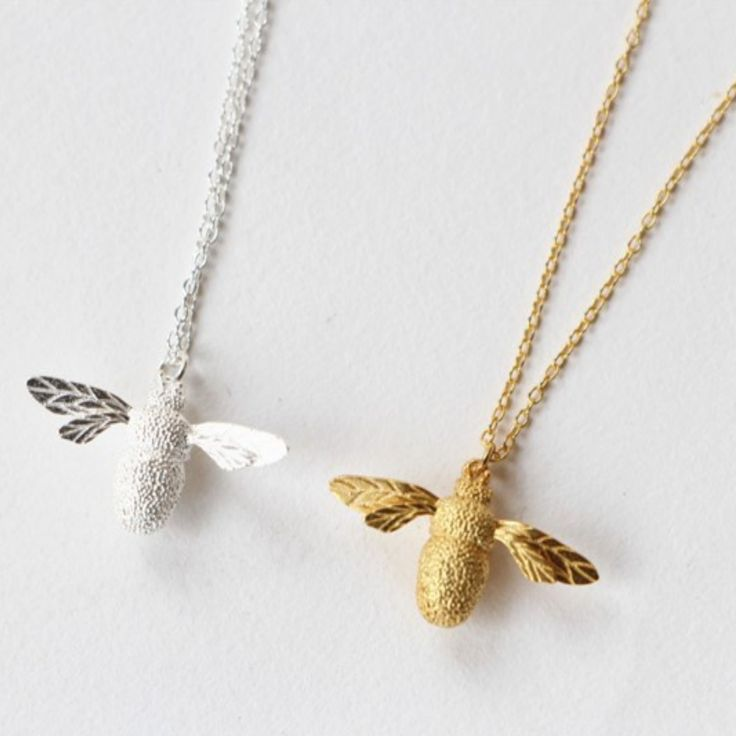 If you like to eat, thank a bee! Because of the bee crisis, we now know how important these fuzzy little yellow creatures are to our crops. Make a statement with this sterling silver bee necklace. It'