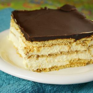 Chocolate-Éclair Icebox Dessert | MyRecipes.com.  Perfect make-ahead dessert that both adults and kids will devour.
