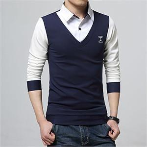 Combination Polo shirt long sleeve.