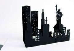 New York candle holder