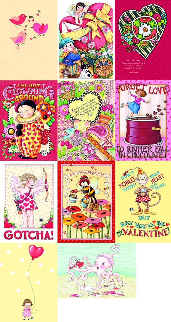 2012 Valentines From Mary Englebreit Looking At Them Makes Me Smile