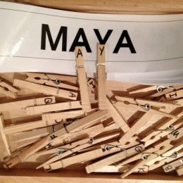 Cute, inexpensive idea-fine motor and letter recognition
