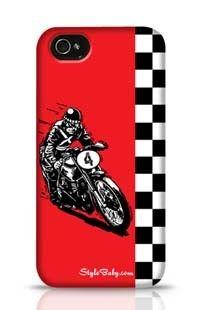 Retro Motocycle Apple iPhone 4 Phone Case