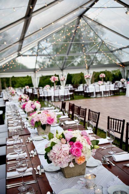 bright pink tent reception | featured wedding   http://blisscelebrationsguide.com/