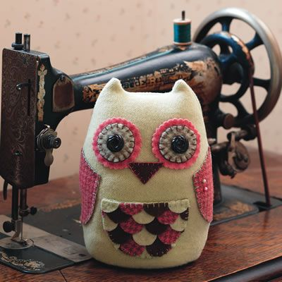 My Oliver the Owl pincushion in Fons and Porter's Love of Quilting magazine